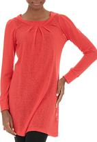 AMANDA LAIRD CHERRY - Verezzi pleated winter tunic