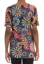 Slick - Printed short-sleeve tunic