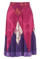 Maya Prass - Patchwork-print midi skirt