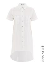 Megalo - Linen shirt with curved hem