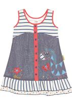 Hooligans - Zebra chambray and knit dress