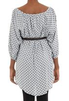 Astrid Ray - Printed tunic with belt