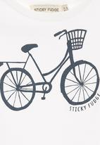 Sticky Fudge - Onesie with bicycle print