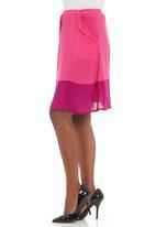 AMANDA LAIRD CHERRY - Fuschia voyage skirt