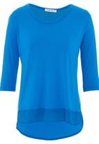 Yes - Knit top with chiffon inset