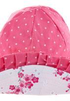 Phoebe & Floyd - Pink printed reversible hat
