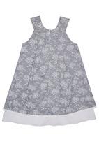 Phoebe & Floyd - Sleeveless chintz dress with rose print and bow