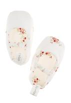 Tic Tac Toe - Printed mary jane shoes in white