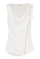 Yes - Top with front zip in white
