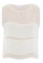 GOOD CLOTHING - Chiffon crop top with appliqued panels