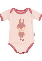 Petit Pois - Bunny-print onesie