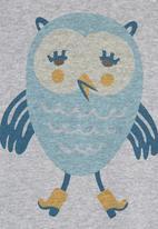 Petit Pois - Owl-print onesie