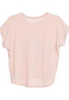 Petit Pois - Owl-print T-shirt with drop hem