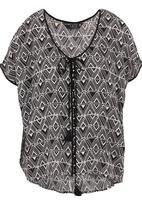 FATE - Bermuda triangle blouse Black/White