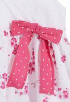 Phoebe & Floyd - Pink babydoll dress with floral print