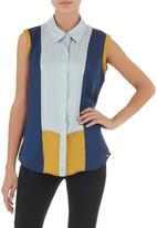 AMANDA LAIRD CHERRY - Marchesa colourblocked shirt