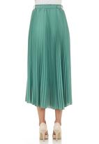 Mishah - Pleated maxi skirt  Green