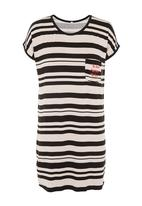 Posse Clothing - Striped sleepshirt Blue