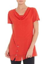 YARRA TRAIL - Button hem T-shirt