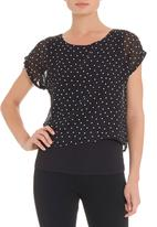 STYLE REPUBLIC - Blouse in black and white