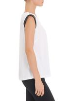 edge - Tunic with trim in white