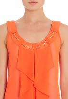edit - Frilled cami in orange