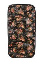 LA PEARLA - Floral printed bag Black
