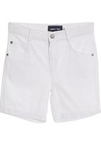 Phoebe & Floyd - White canvas shorts