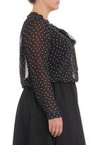 edit - Monochrome bow blouse