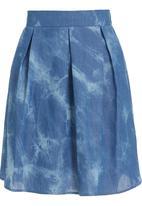 STYLE REPUBLIC - Denim skater skirt in blue