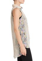 edge - Pastel printed blouse in multi-colour