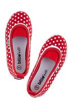 Billie Kids - Spotted pumps in red