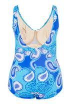 Jacqueline - Paisley one-piece in blue