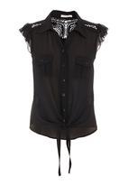 SASS - Twilight flutter blouse