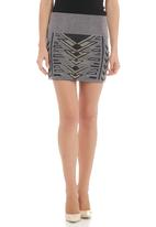 SASS - Messenger-stud skirt