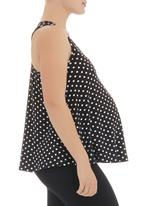 Me-a-mama - Polka dot swing top Black & White