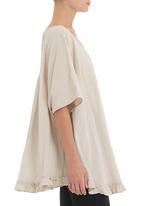 JUST CRUIZIN - Light stone swing tunic with frill