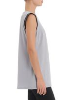 edge - Tunic with trim in grey