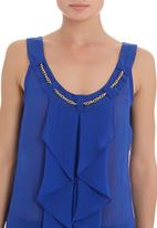 edit - Frilled cami in blue
