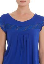 edit - Lace inset T-shirt