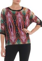 edit - Chiffon T-shirt in multi-colour