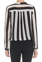 edit - Bow blouse in black and white