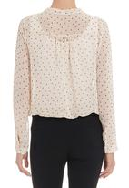 edit - Pussy-bow blouse in multi-colour