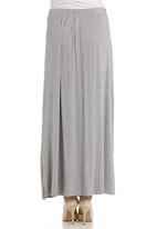 edit - Pleated maxi skirt in grey