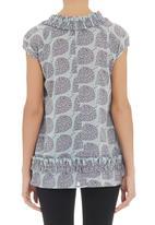 Jenja - Ruffle blouse in purple