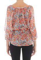 Yes - Printed peasant top Orange