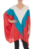 MICHELLE LUDEK - Colourblock top in multi-colour