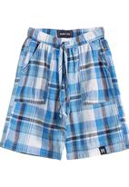Phoebe & Floyd - Blue check shorts