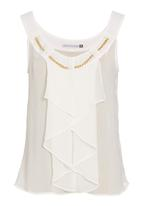 edit - Frilled cami in white