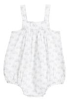 Tic Tac Toe - Dungaree bubble with blue bicycle print